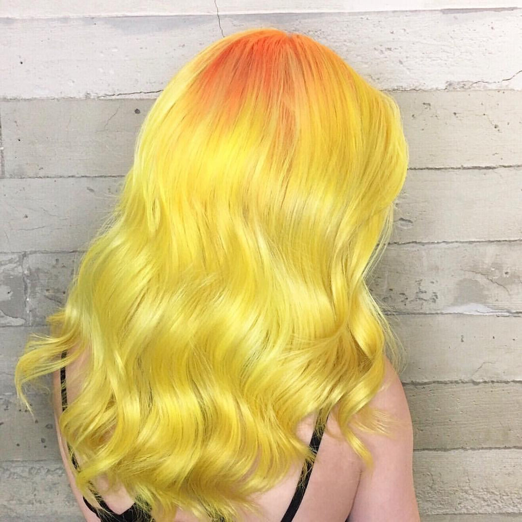 Bold Yellow Hair Color