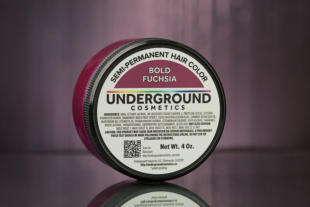 Bold Fuchsia Hair Color-Hair Color-Underground Cosmetics