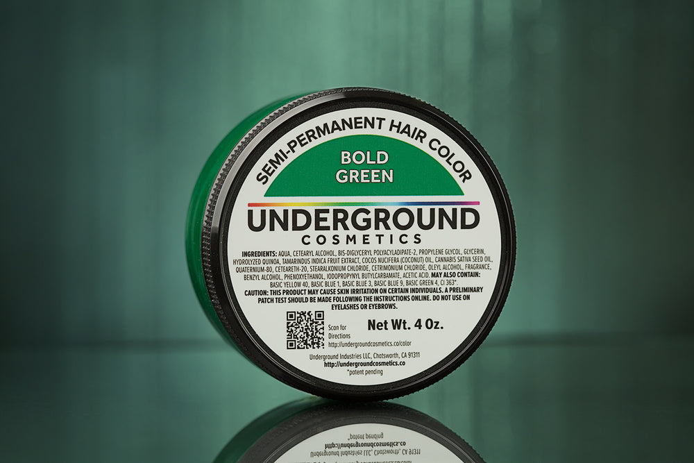 Bold Green Hair Color-Hair Color-Underground Cosmetics