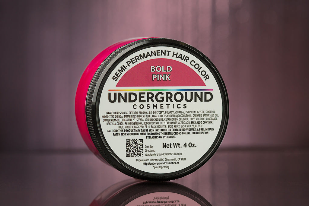 Bold Pink Hair Color-Hair Color-Underground Cosmetics