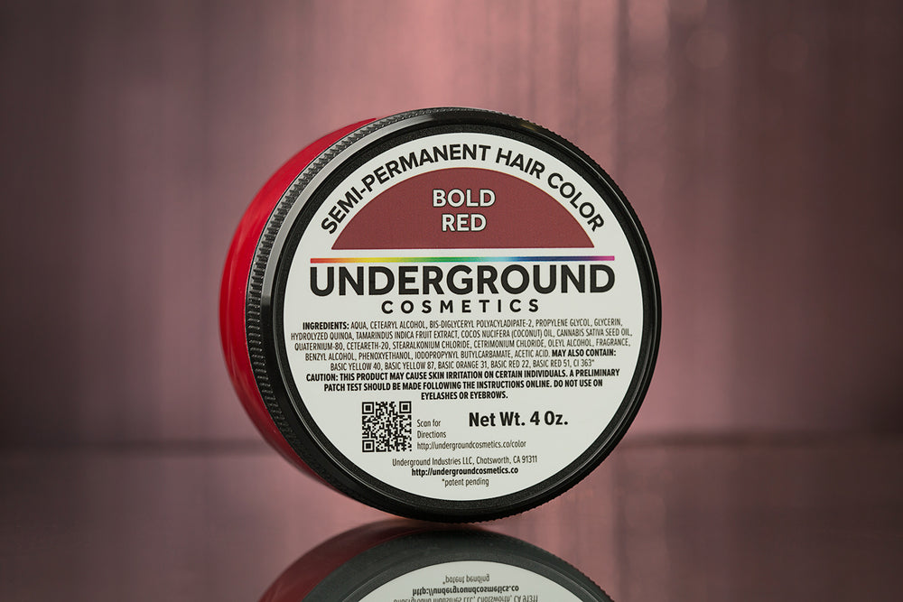 Bold Red Hair Color-Hair Color-Underground Cosmetics