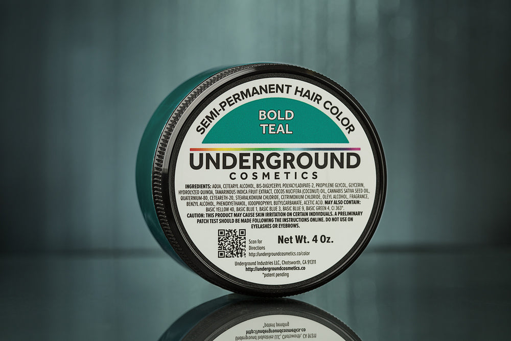 Bold Teal Hair Color-Hair Color-Underground Cosmetics