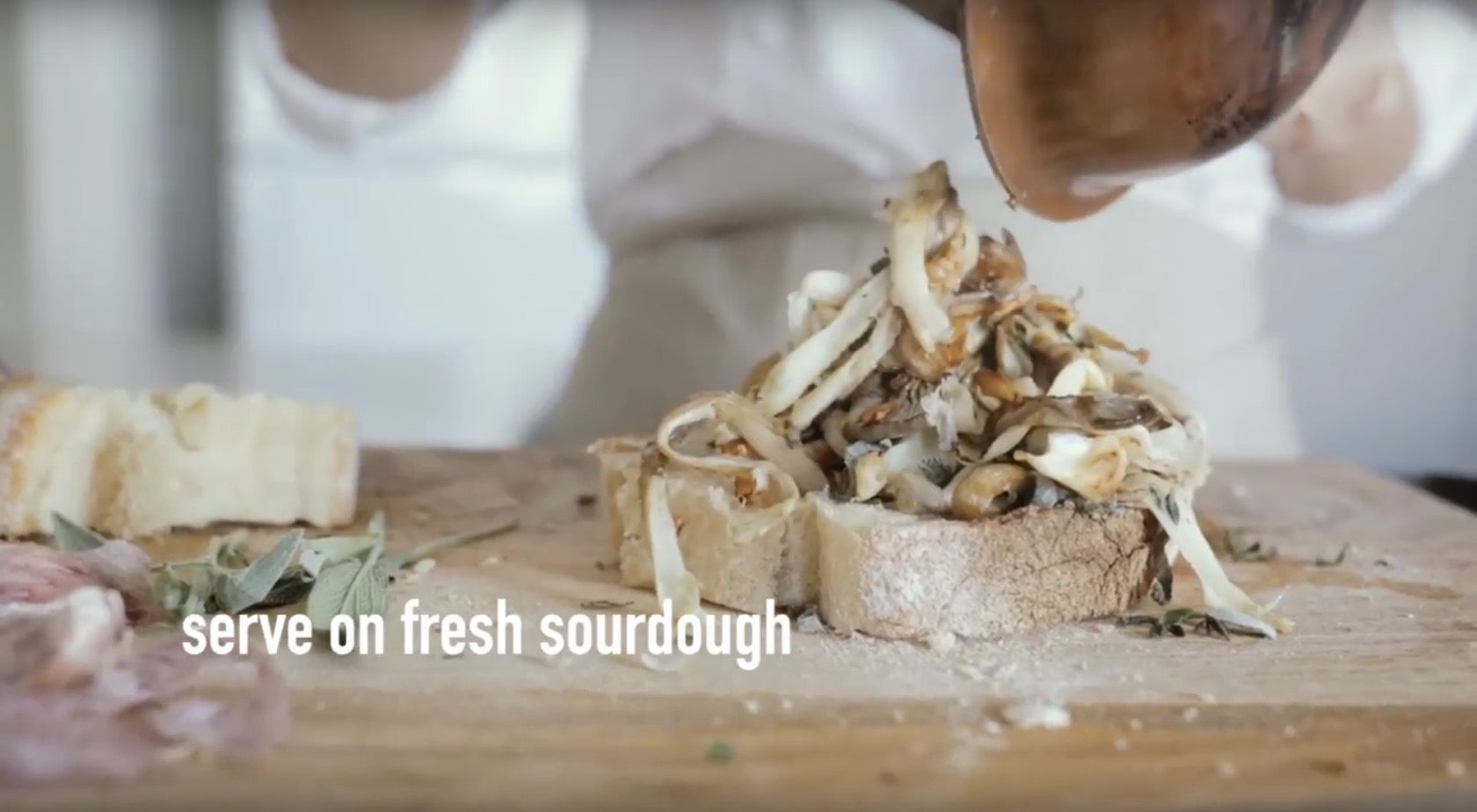 Video: Coffee Mushrooms on Toast