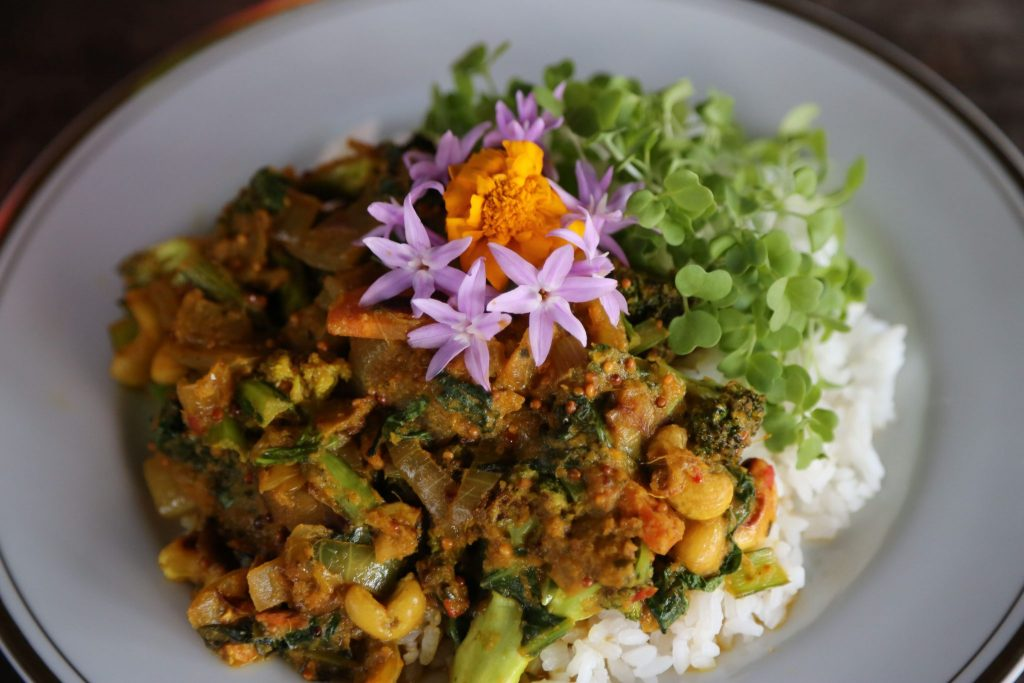 Rainforest Bounty Curry with Alkaline Greens