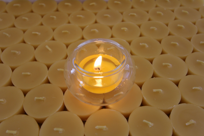 Beeswax Tea Light Bubbles