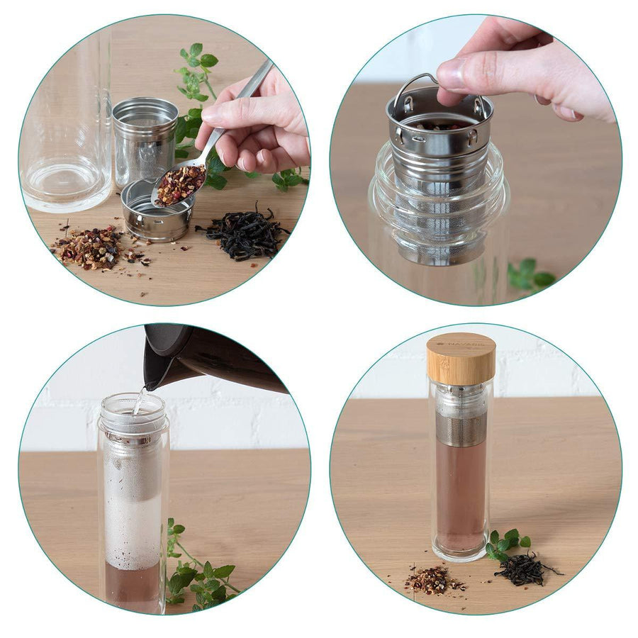 Glass Tea Tumbler 500ml