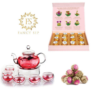 Chinese Traditional Teapot Set and Organic Flowering Tea