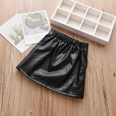 Isla Woa Leather Skirt