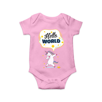 Hello World Woa Baby Romper