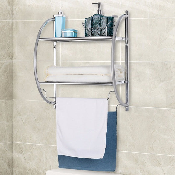 2-Tier Wall Mount Shower Organizer Shelf