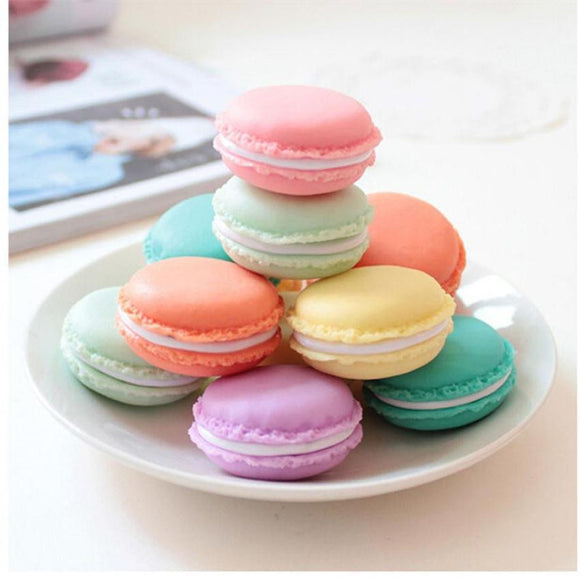 6PCS Storage Box Mini Earphone SD Card Macarons Carrying Pouch