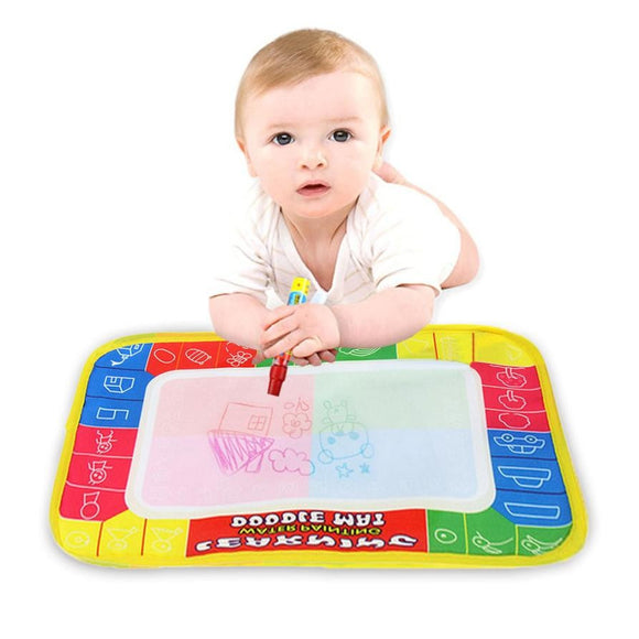 29X19cm Mini Water Drawing Mat Toys for Children Aquadoodle Mat&1 Magic Pen/Water Drawing Board/Baby Play Mat