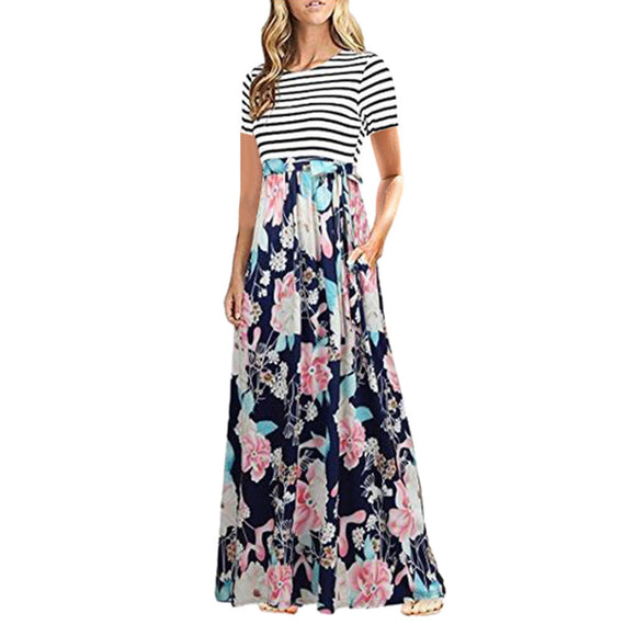 Floral and Flowy Long Maxi Dress
