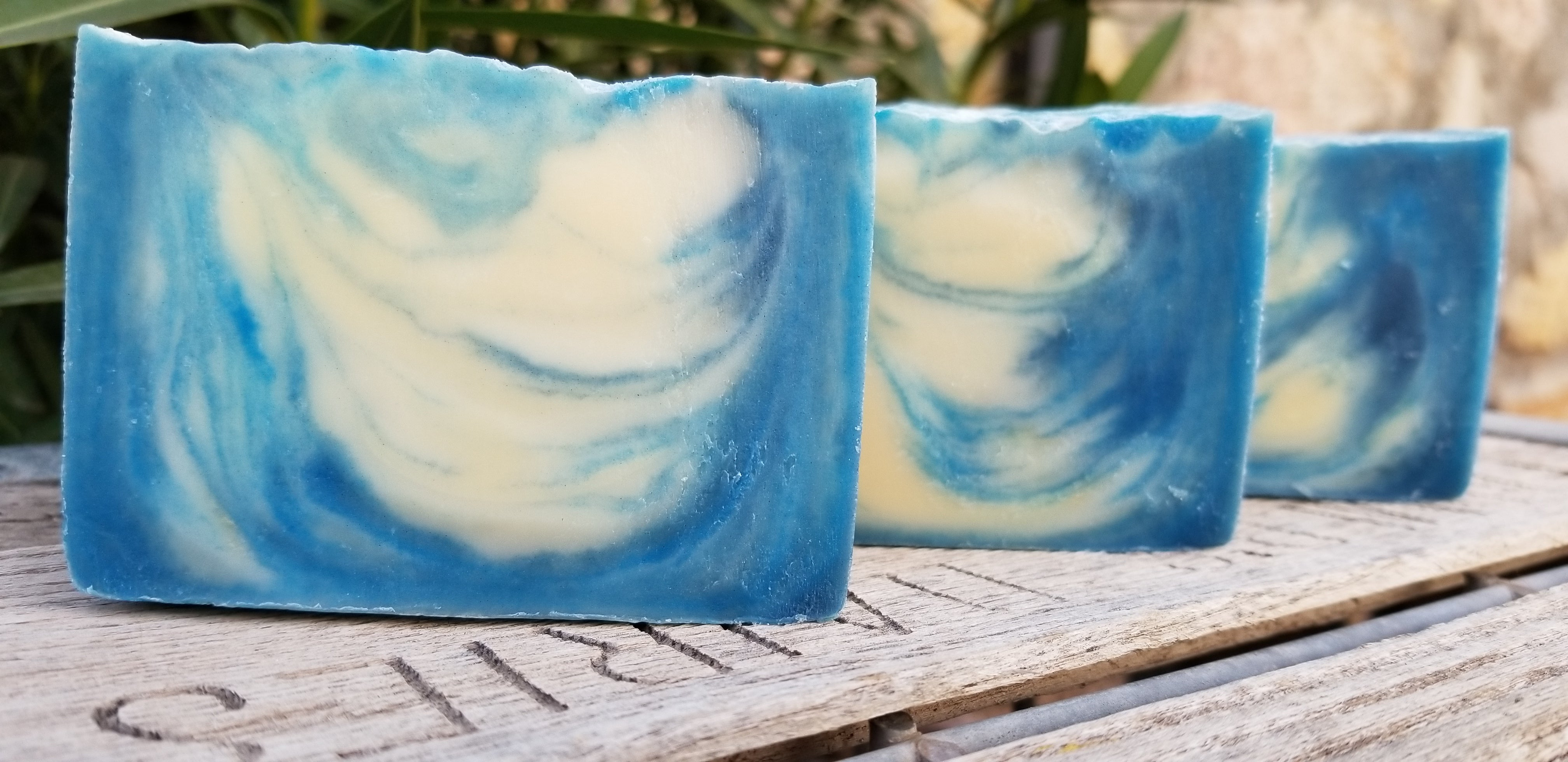 Pure Blue Cold-Process Handcrafted Soap