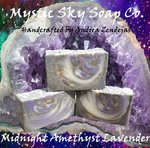 Midnight Amethyst Honey Lavender Handcrafted Cold-Process Soap