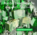 Mystic Sky Soap Co. Emerald Essence Cold-Process Handcrafted Soap