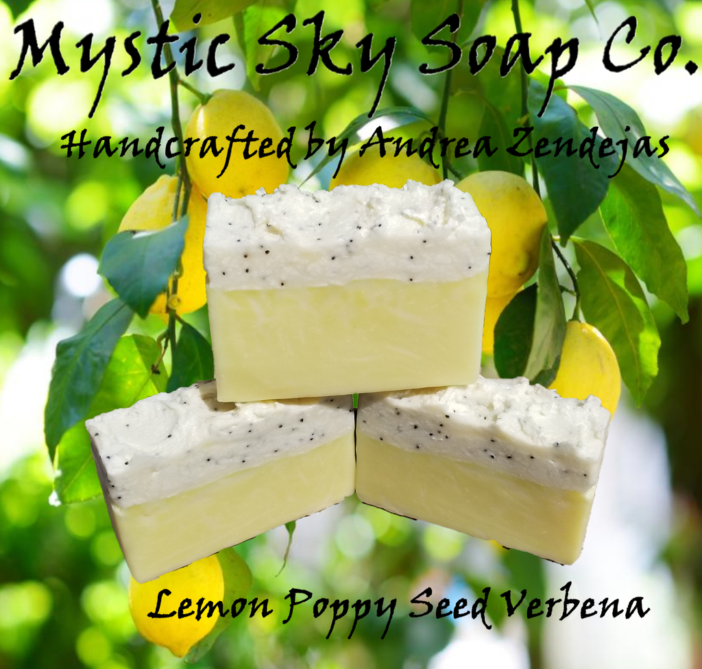 Lemon Poppy Seed Verbena Handcrafted Cold-Process Soap