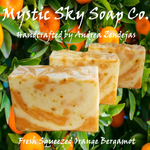 Fresh Squeezed Orange Bergamot Cold-Process Handcrafted Soap