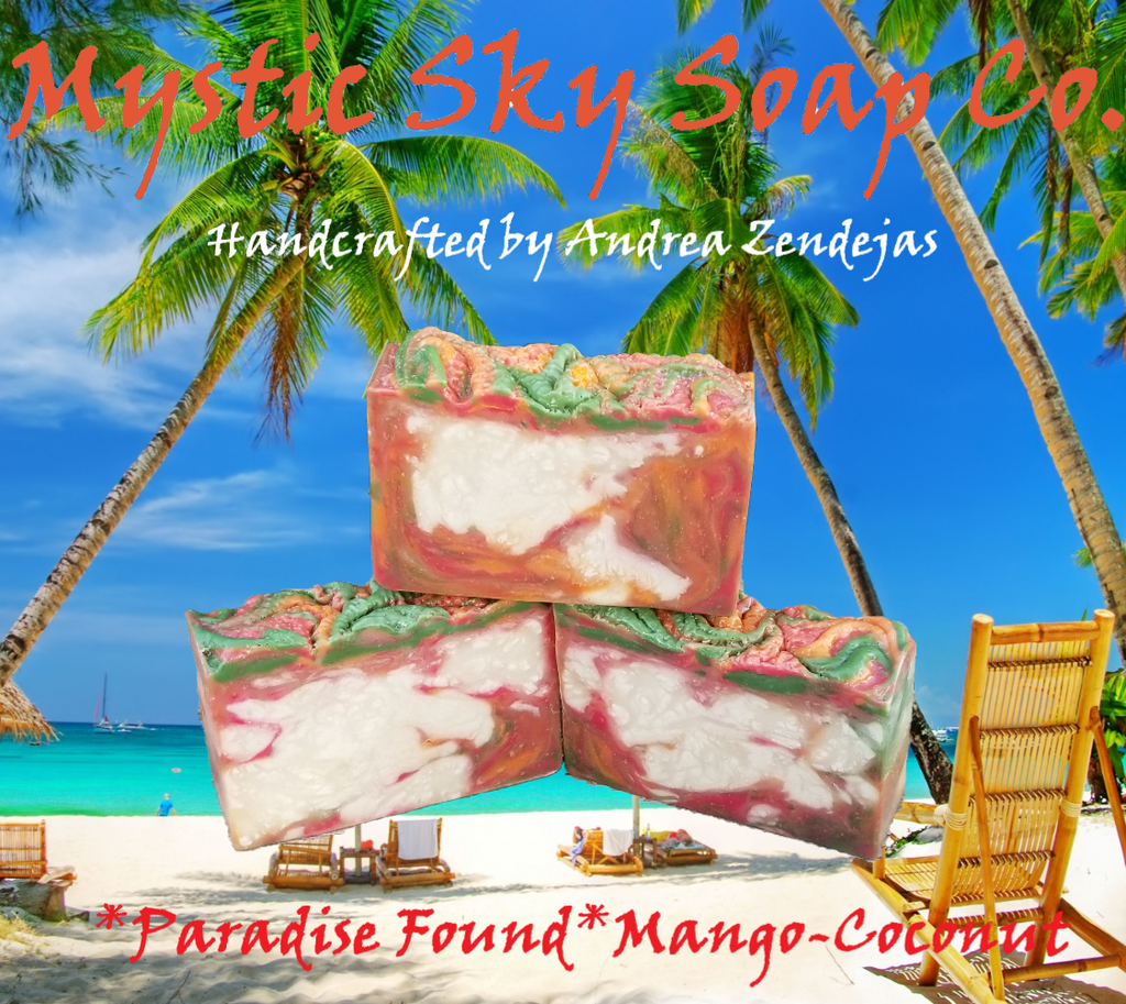 Paradise Found Mango-Coconut Handcrafted Cold-Process Soap