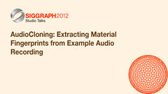AudioCloning: Extracting Material Fingerprints from Example Audio Recording