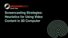 Screencasting Strategies:  Heuristics for Using Video Content in 3D Computer Graphics Technological and Aesthetic Education