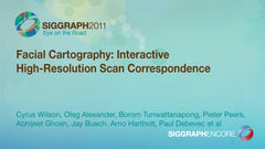 Facial Cartography: Interactive High-Resolution Scan Correspondence