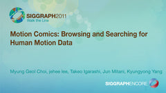 Motion Comics: Browsing and Searching for Human Motion Data