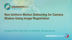 Non-Uniform Motion Deblurring for Camera Shakes Using Image Registration