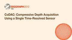 CoDAC: Compressive Depth Acquisition Using a Single Time-Resolved Sensor