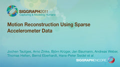 Motion Reconstruction Using Sparse Accelerometer Data