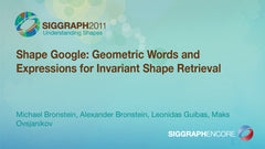 Shape Google: Geometric Words and Expressions for Invariant Shape Retrieval