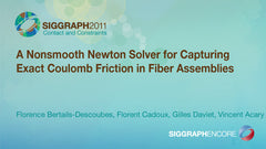 A Nonsmooth Newton Solver for Capturing Exact Coulomb Friction in Fiber Assemblies