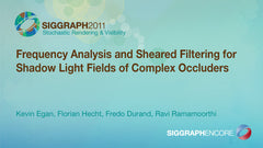 Frequency Analysis and Sheared Filtering for Shadow Light Fields of Complex Occluders