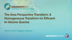 The Area Perspective Transform: A Homogeneous Transform for Efficient In-Volume Queries