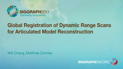 Global Registration of Dynamic Range Scans for Articulated Model Reconstruction