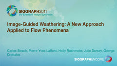 Image-Guided Weathering: A New Approach Applied to Flow Phenomena