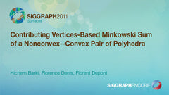 Contributing Vertices-Based Minkowski Sum of a Nonconvex--Convex Pair of Polyhedra