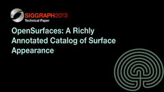 OpenSurfaces: A Richly Annotated Catalog of Surface Appearance