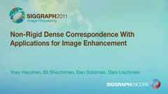 Non-Rigid Dense Correspondence With Applications for Image Enhancement