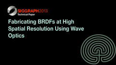 Fabricating BRDFs at High Spatial Resolution Using Wave Optics