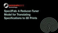 Spec2Fab: A Reducer-Tuner Model for Translating Specifications to 3D Prints