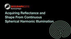 Acquiring Reflectance and Shape From Continuous Spherical Harmonic Illumination
