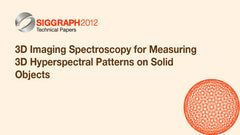 3D Imaging Spectroscopy for Measuring 3D Hyperspectral Patterns on Solid Objects