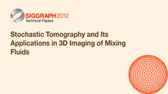 Stochastic Tomography and Its Applications in 3D Imaging of Mixing Fluids