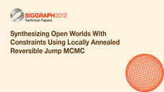 Synthesizing Open Worlds With Constraints Using Locally Annealed Reversible Jump MCMC
