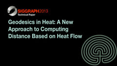 Geodesics in Heat: A New Approach to Computing Distance Based on Heat Flow