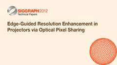 Edge-Guided Resolution Enhancement in Projectors via Optical Pixel Sharing