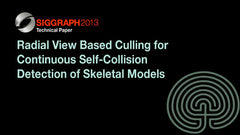 Radial View Based Culling for Continuous Self-Collision Detection of Skeletal Models