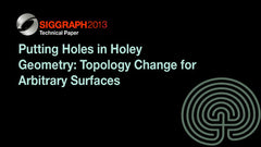 Putting Holes in Holey Geometry: Topology Change for Arbitrary Surfaces