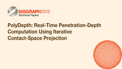PolyDepth: Real-Time Penetration-Depth Computation Using Iterative Contact-Space Projection